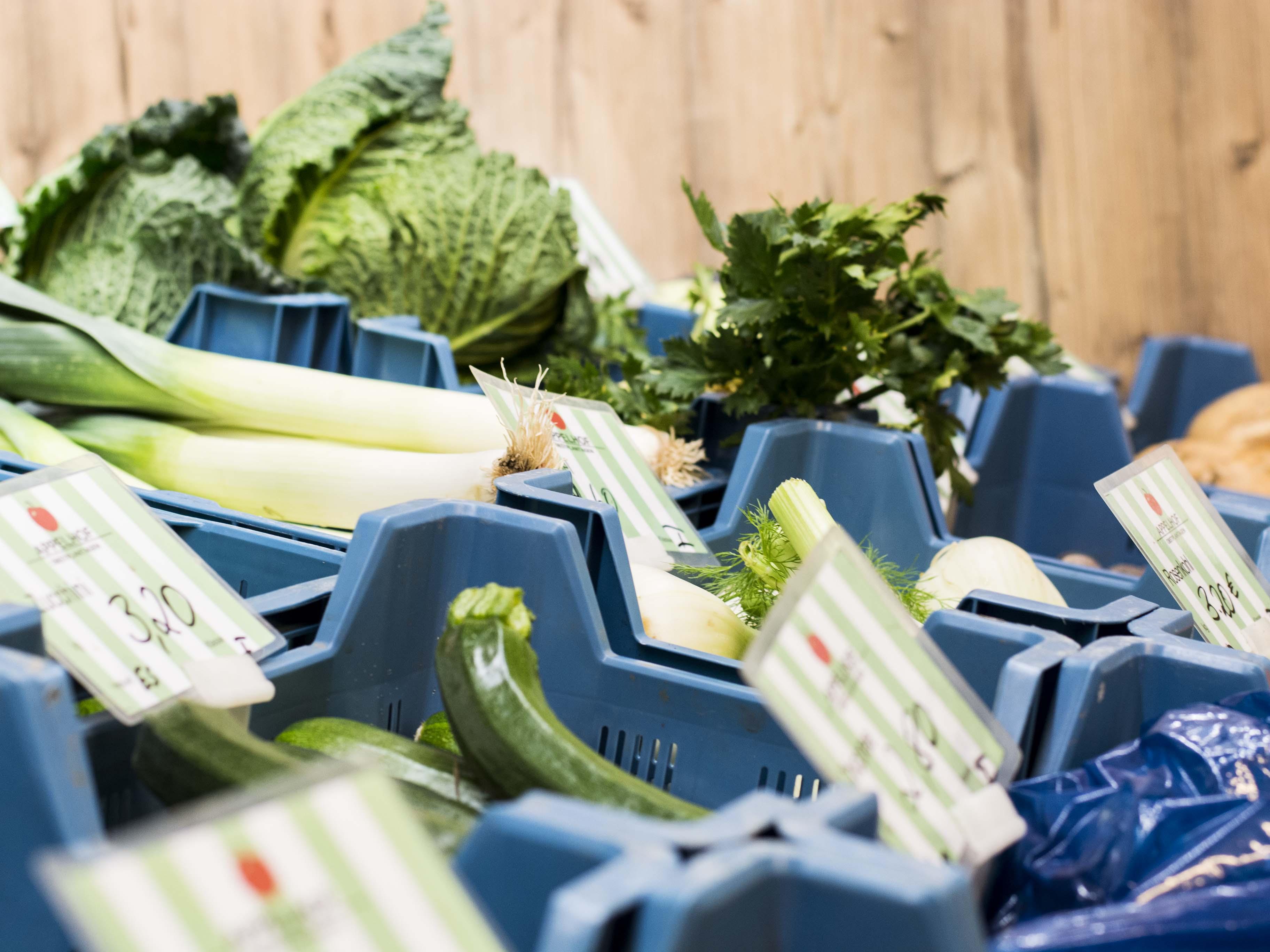Gemüseauswahl Appelhofladen