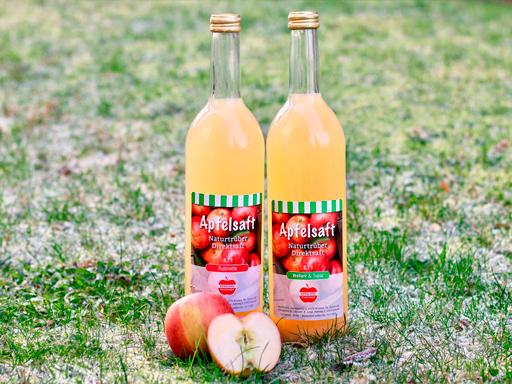 NEU: Eigener leckerer Apfelsaft in praktischen und schönen  Flaschen